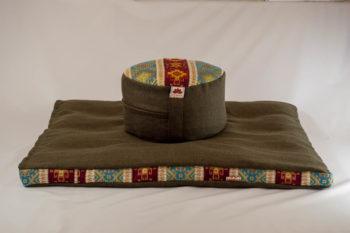 Pernă Set Meditație Zabutan EcoYoga Lotus #Verde 2