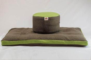 Pernă Set Meditație Zabutan EcoYoga Apple #Verde 2 cu Husă Detașabilă