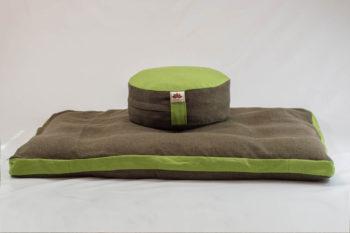 Pernă Set Meditație Zabutan EcoYoga Apple #Verde 4 cu Husă Detașabilă