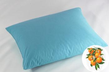 Természetes Memory Párna Aroma Therapy Narancs Virág 50x40cm Kék