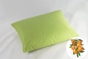 Természetes Memory Párna Aroma Therapy Narancs Virág 30x40cm Zöld