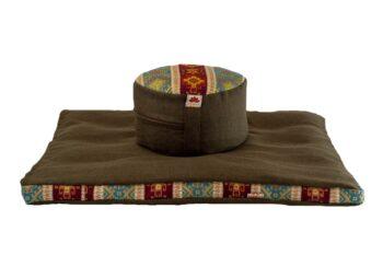 Pernă Set Meditație Zabutan EcoYoga Lotus #Verde 2 cu Husă Detașabilă