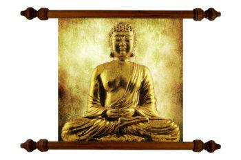 Tablou TANKA Buddha Gold