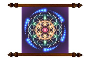 Tablou TANKA Flower of Life Light