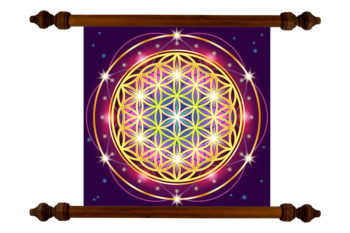 Tablou TANKA Flower of Life Gold