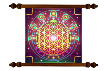 Tablou TANKA Flower of Life Moon